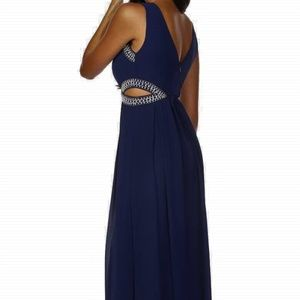 TFNC Lightweight Chiffon Embellished Maxi Dress S